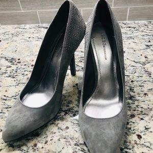 Grey studded BCBG heels Sz 9.5 NWOT